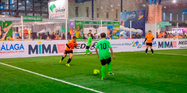 Actividades-partido de fútbol 7 en Mima