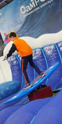 Actividad surf en Mima