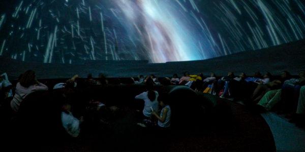 Actividad de planetario en Mima